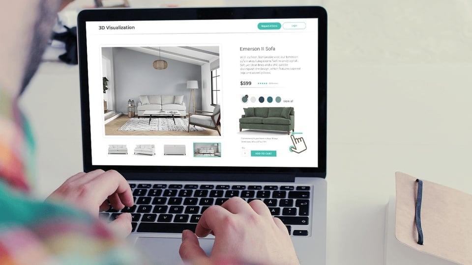 3D product furniture visualization