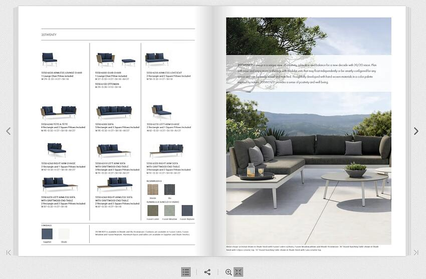 Brown Jordan catalog 3D product visualization