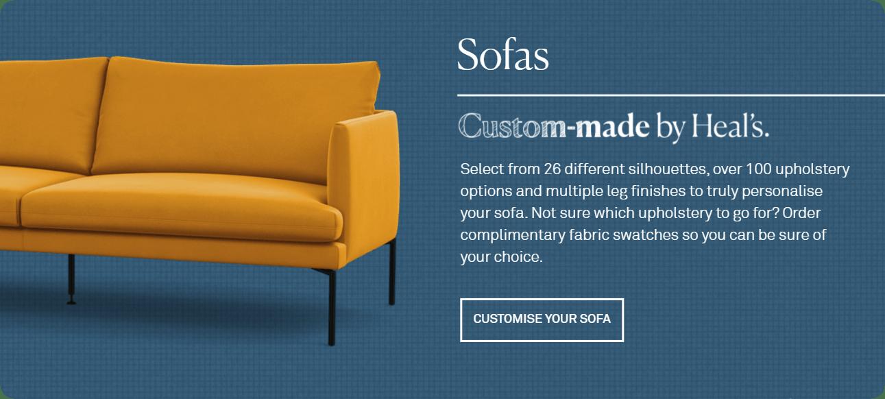 Custom Made Sofas by Heal's