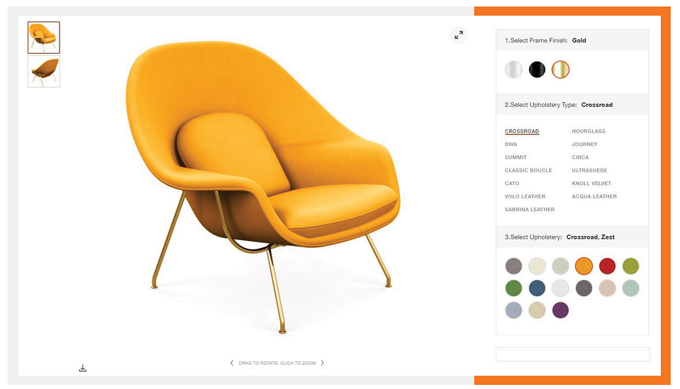 knoll-product-page-experience-3d-configurator