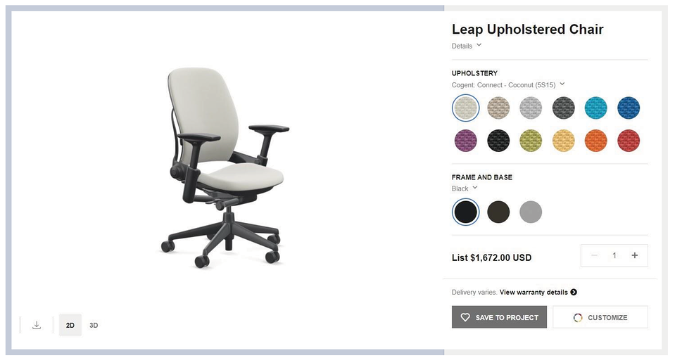 steelcase-product-page-3d-configurator