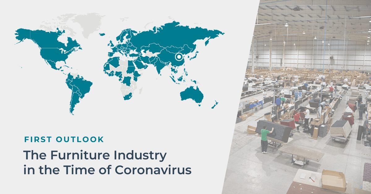 A map of the world representing the furniture industry in the time of Coronavirus