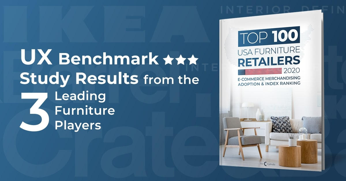 UX benchmark study results from the 3 leading furniture players: IKEA, Interior Define and Crate&Barrel