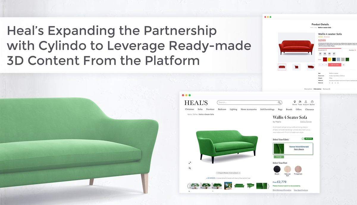 Heal's Expanding the Partnership with Cylindo to Leverage 3D Content
