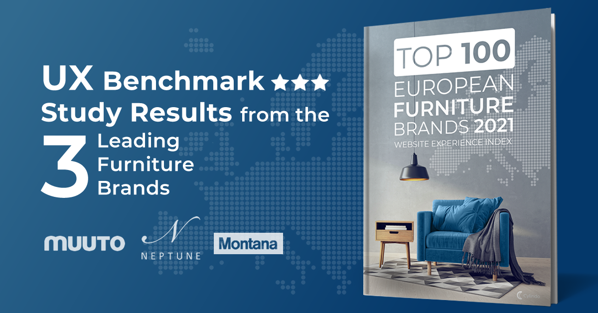 UX benchmark study results from the 3 leading European furniture brands 2021