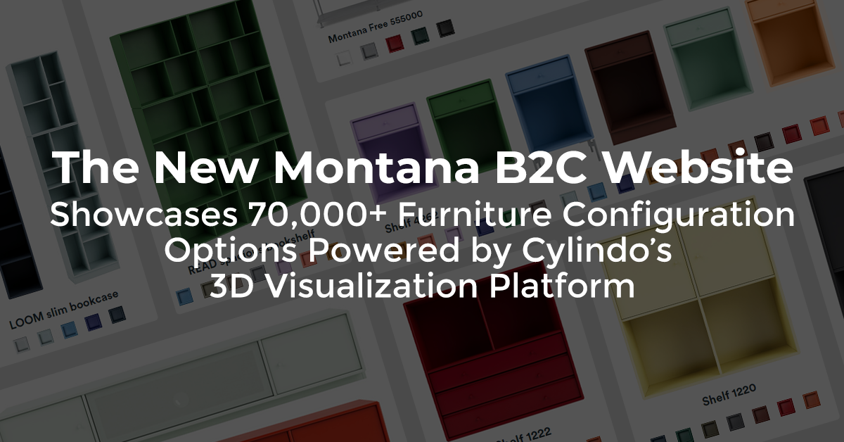 The New Montana B2C Website Showcases 70,000+ Furniture Configuration Options Powered by Cylindo's 3D Visualization Platform