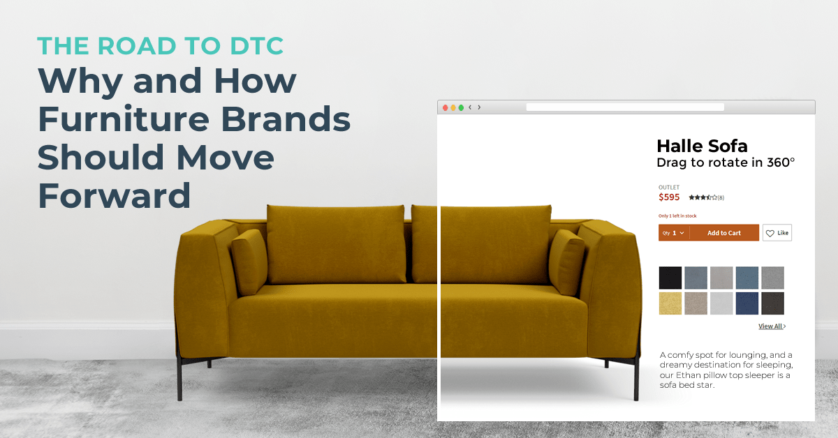 Halle sofa representing the road to DTC: why and how furniture brands should move forward