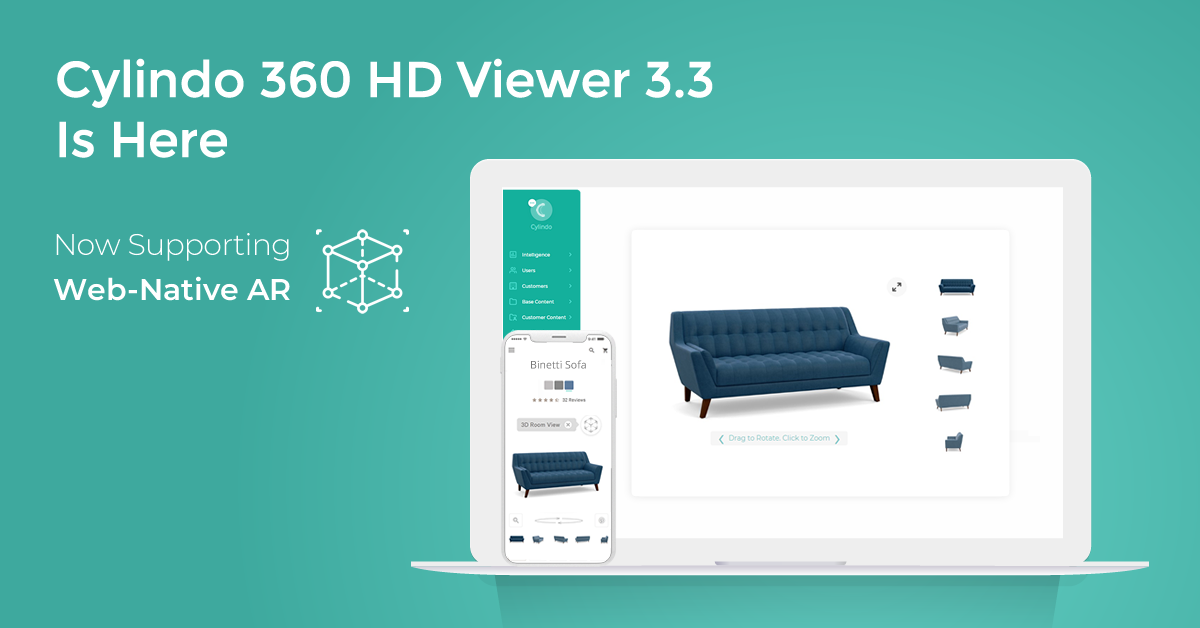 Cylindo 360 HD Viewer 3.3 Is Here - Now Supporting Web-Native AR